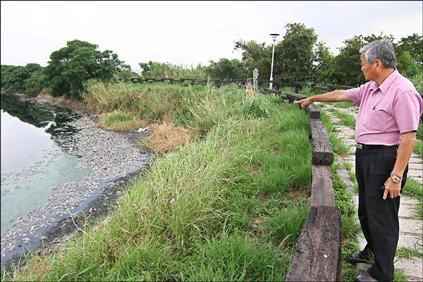 九十八年滲眉埤發生魚群暴斃,當時村民就懷疑宇鴻惹禍。(本報資料照)