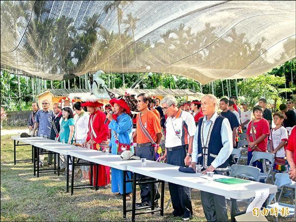 阿美族Cilangasan部落學校開學典禮,昨在太巴塱部落發祥地舉辦。(記者花孟璟攝)