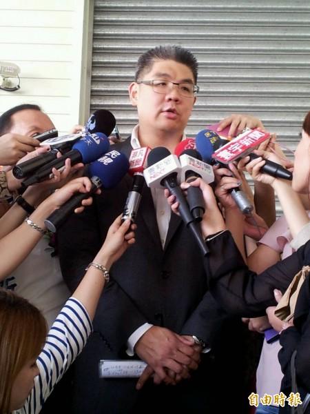 國民黨台北市長參選人連勝文出席台北夏季旅展。(記者盧姮倩攝)