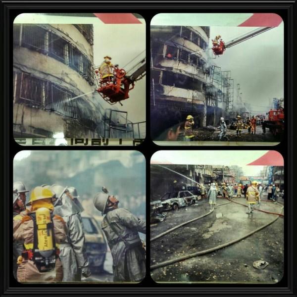 18年前,新北市板橋瓦斯氣爆照重現,受災戶難忘驚恐。(記者吳仁捷翻攝)