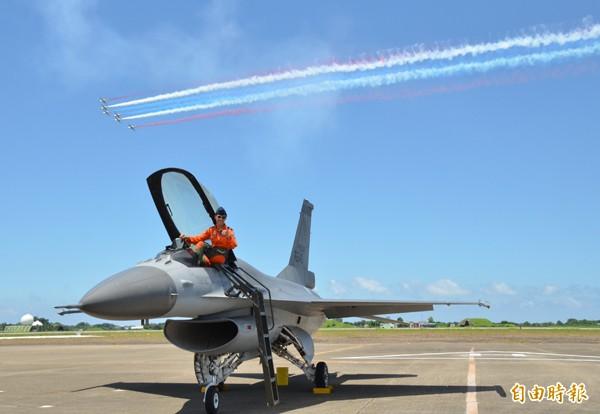 F16戰機。(資料照,記者吳俊鋒攝)