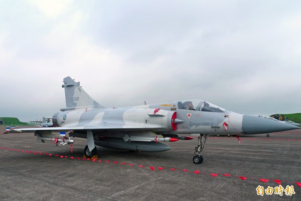 幻象2000戰機。(資料照,記者羅添斌攝)