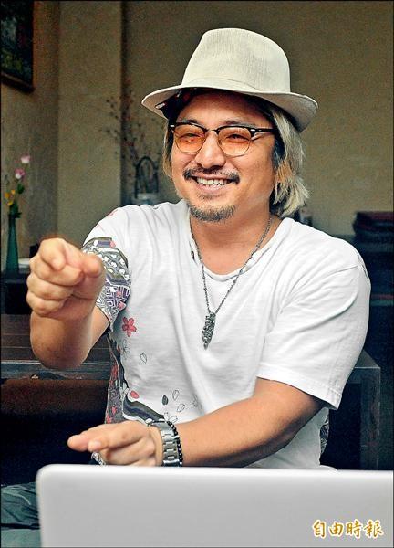 日本導演北村豐晴暢談他對台灣人及台灣這個國家的真實感受。(記者廖振輝攝)