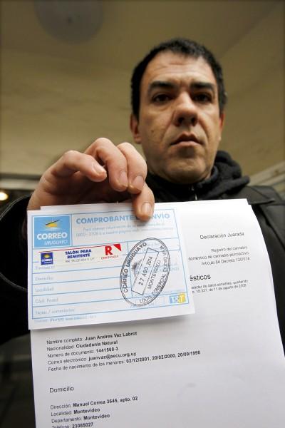 烏拉圭今天開放登記合法種植大麻,目前至少已有10人取得資格。(歐新社)