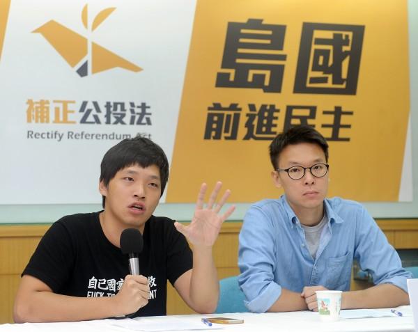 島國前進發起人林飛帆(圖右)認為,台灣、中國、香港、澳門、圖博的共同敵人,就是中共政權。(資料照,記者廖振輝攝)