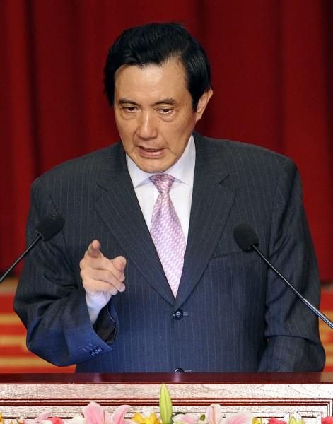 總統馬英九針對香港人民最近爭取民主普選一事表態。(資料照,記者陳志曲攝)
