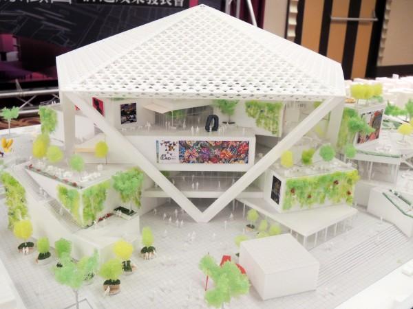 台南美術館國際競圖首獎作品模型。(記者洪瑞琴攝)