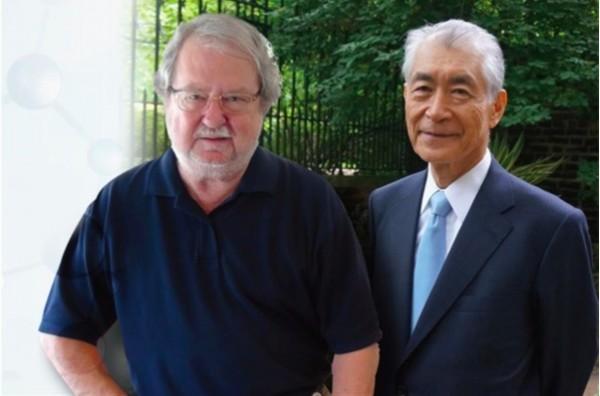 唐獎生技醫藥獎共有兩位得主,分別是詹姆斯·艾利森(James P. Allison,左)與本庶佑(Tasuku Honjo,右),兩人為癌症免疫療法帶來重大突破,有效延長病患生命。(圖由唐獎提供)