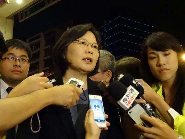 今天是民進黨黨慶,香港公民正在進行佔中行動,民進黨主席蔡英文在臉書為香港加油,也激勵台灣努力向前!(資料照,記者蘇芳禾攝)