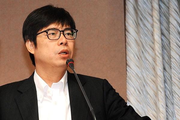 由立委陳其邁發言,提案聲援香港佔中行動,在朝野黨團均無異議下通過。(資料照,記者王敏為攝。)