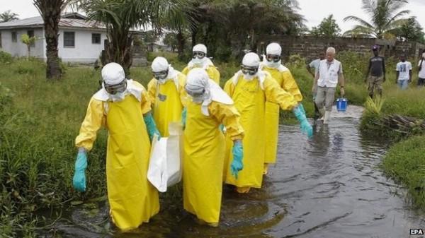 賴比瑞亞醫護為要求加薪和加強醫療防護措施(歐新社)
