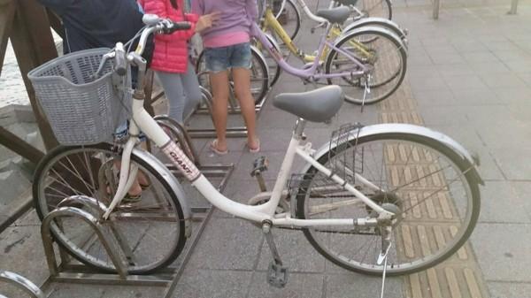失竊的自行車。(記者曾健銘翻攝)