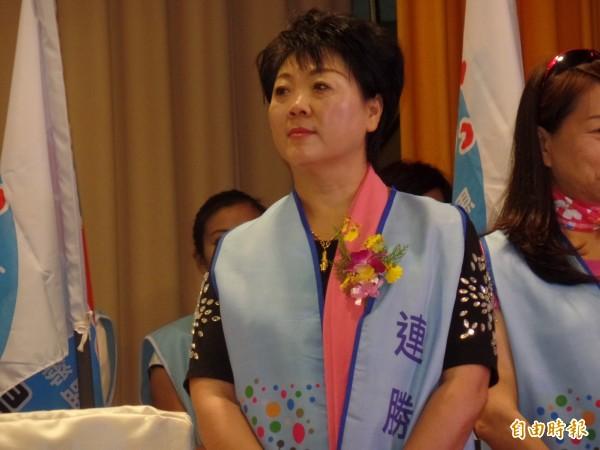 中國生產黨主席盧月香。(記者郭安家攝)