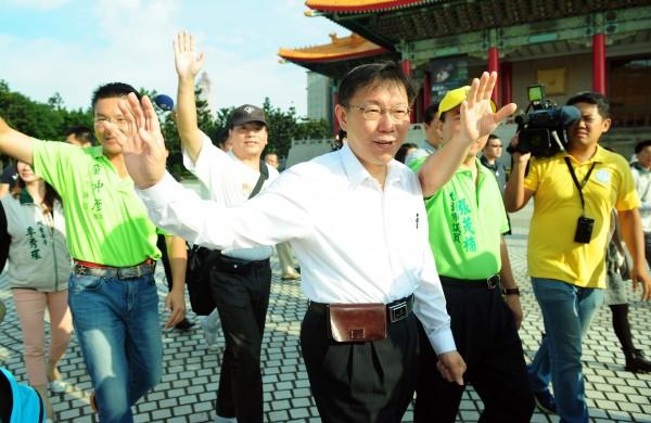 無黨籍台北市長候選人柯文哲。(資料照,記者羅沛德攝)