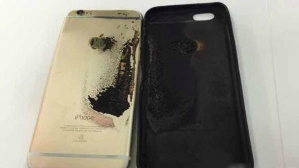 中國網友宣稱僅購買11天的 iPhone 6自燃。(圖擷取自微博)