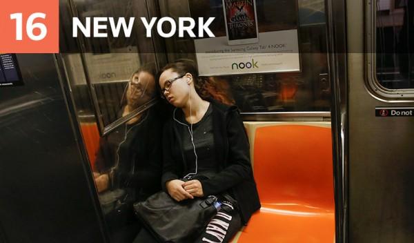 危險程度最後一名,也就是最安全的地鐵為紐約市地鐵。(圖擷取自《Thompson Reuters Foundation》網站)