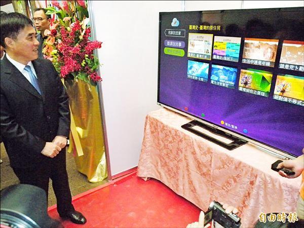 光纖網路寬頻基礎建設後,會結合Taipei Free無線網路。(記者吳亮儀攝)