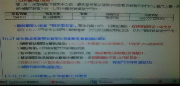 有民眾向民進黨立委陳淑芬爆料,指萊爾富竟接受味全補貼,將林鳳營鮮乳上架。(圖擷取自林淑芬臉書)
