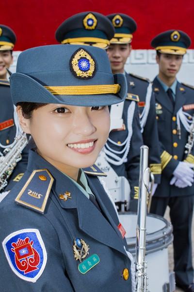 陸軍司令部勤務營軍樂連的楊喬琳中士。(陸軍司令部提供)