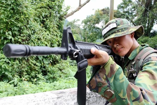 第六軍團二一砲指部謝淑貞中士。(陸軍司令部提供)