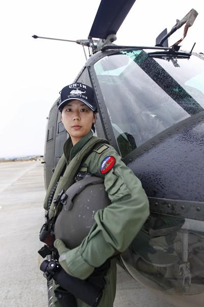 陸航六○一旅楊韻璇上尉。(陸軍司令部提供)