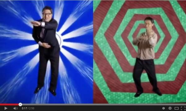 「年輕瘋」團隊模仿連勝文VS.柯文哲來rap battle!(圖擷自YouTube)