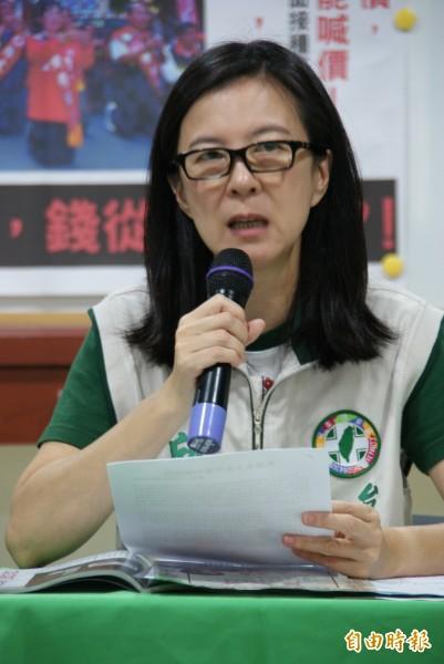 選前五天,民進黨市黨部大動作要求黃陣營交代財源。 (記者黃文鍠攝)
