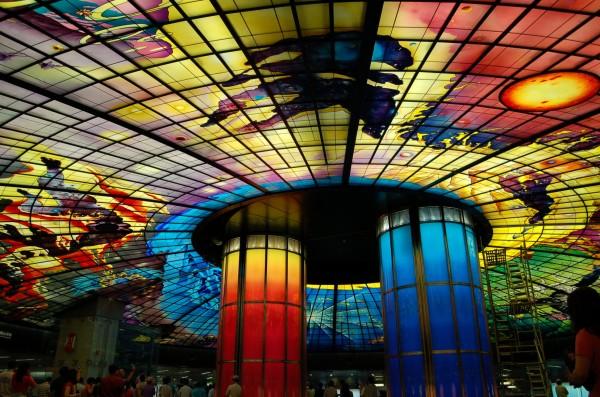 CNN旅遊版日前報導,高捷美麗島站被評選為全球最美地鐵站第六。(資料照,記者王榮祥攝)