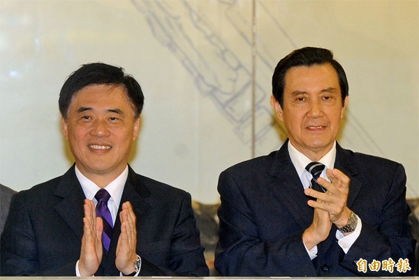 台北市長郝龍斌(左)、國民黨主席馬英九(右)。(資料照,記者王敏為攝)