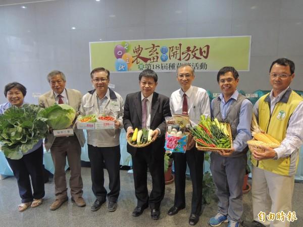 台南區農改場、畜產試驗所在開放日當天,邀請民眾前來參觀。(記者林孟婷攝)