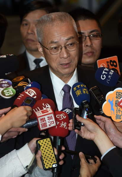 身兼國民黨副主席的副總統吳敦義今日出席國民黨中山會報,表示請辭黨副主席,絕非以退為進,不會參選黨主席。(記者簡榮豐攝)