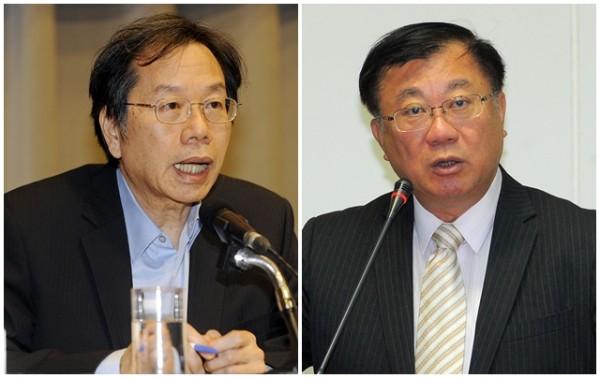 衛福部長蔣丙煌(左,記者陳志曲攝)上才任40多天,尚未證實是否留任,農委會主委陳保基(右,記者王敏為攝)則表示已接獲徵詢。