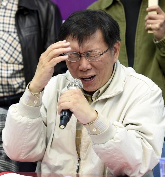 台北市準市長柯文哲快人快語,拋出許多市政議題經常惹爭議。(資料照,記者叢昌瑾攝)