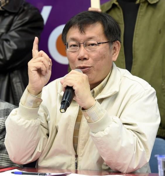 台北市長當選人柯文哲預定將在本月12日及23日分別拜訪前總統李登輝和陳水扁。(資料照,記者叢昌瑾攝)