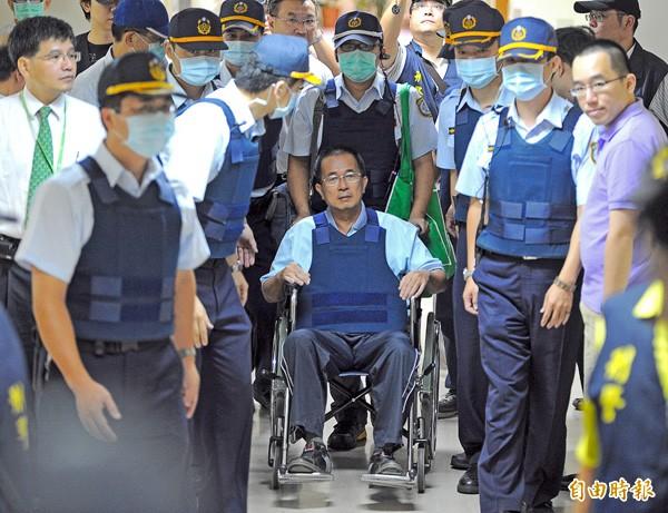 前總統陳水扁(中)。(資料照,記者王敏為攝)