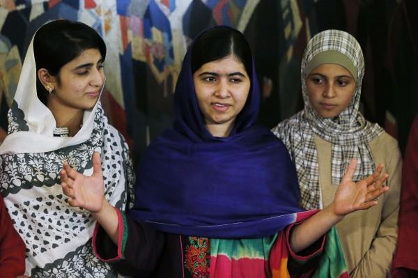 馬拉拉今天獲頒諾貝爾和平獎,發願未來將競選巴基斯坦總理。(路透)