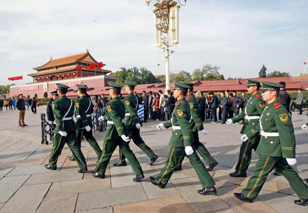 北京天安門廣場。(中央社資料照)