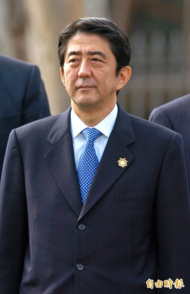 日本首相安倍晉三。(檔案,記者王敏為攝)