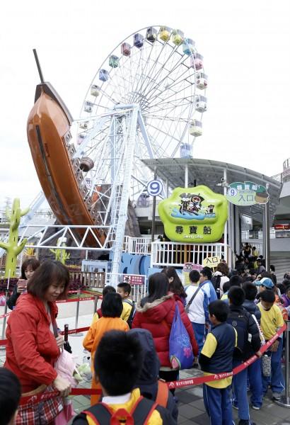 台北市立兒童新樂園今天開幕,上午湧入至少400名民眾入園。(資料照,記者臺大翔攝)