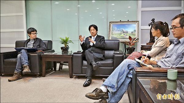賴清德接受本報專訪,暢談未來施政藍圖。(記者黃欣柏攝)