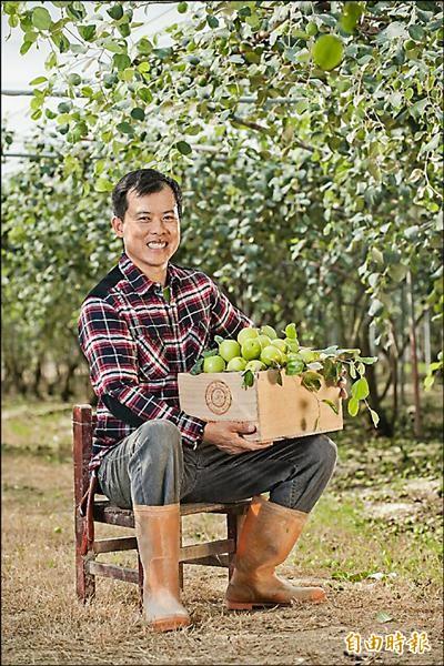 型農陳明輝生產近三公頃蜜棗,目前已銷售一空。(記者陳文嬋攝)
