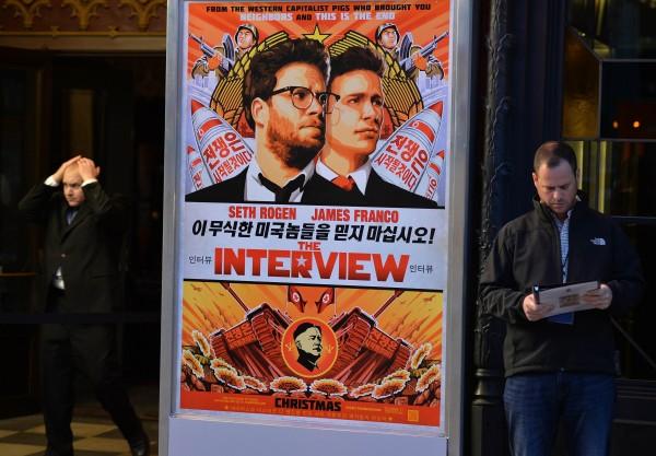 索尼影業近日遭受駭客威脅而取消電影《名嘴出任務》上映。(法新社)