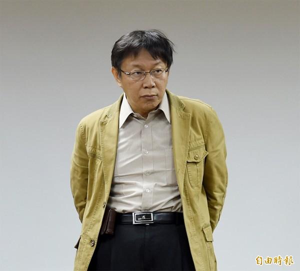 準台北市長柯文哲。(記者羅沛德攝)