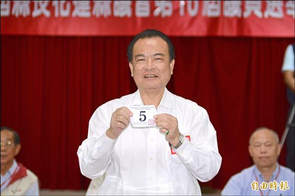 花蓮縣議會現任議長楊文值積極尋求連任。(記者游太郎攝)