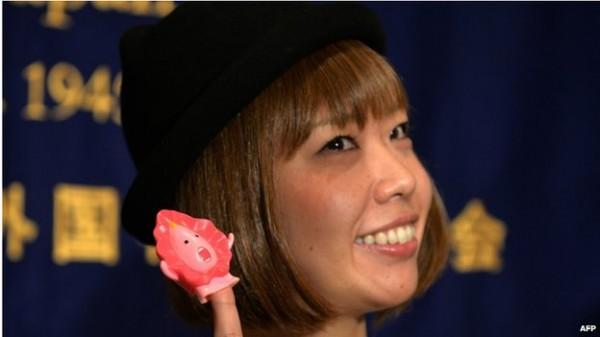 日本藝術家五十嵐惠因涉嫌傳送陰道數據,涉及猥褻罪遭到東京檢察廳起訴。(圖片擷取自BBC)