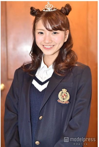 「關東最可愛高中女生」第2名小林彩友。(圖片擷取自《modelpress》網站)