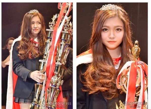 「關西最可愛高中女生」冠軍美優。(圖片擷取自《modelpress》網站)