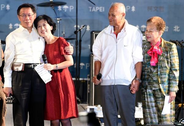 台北市長柯文哲在明天的跨年晚會將坐在台下角落,家人也不會出席,把跨年夜還市民。(資料照,記者朱沛雄攝)