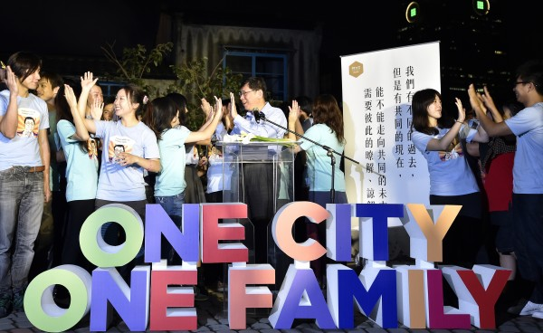 柯文哲在競選期間規劃的「台北七步走」活動,第七站到台北信義區的「四四南村」。(資料照,記者叢昌瑾攝)