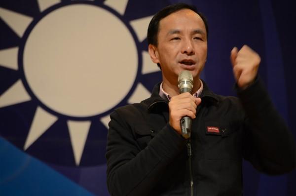 朱立倫誓言「國民黨要把失去的江山拿回來」。(記者鄭淑婷攝)